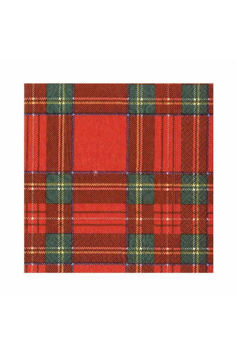 Caspari Royal Plaid Paper Luncheon Napkins