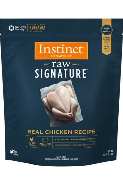 Nature's Variety Instinct Frozen Raw Signature Real Chicken Dog Medallions 3#