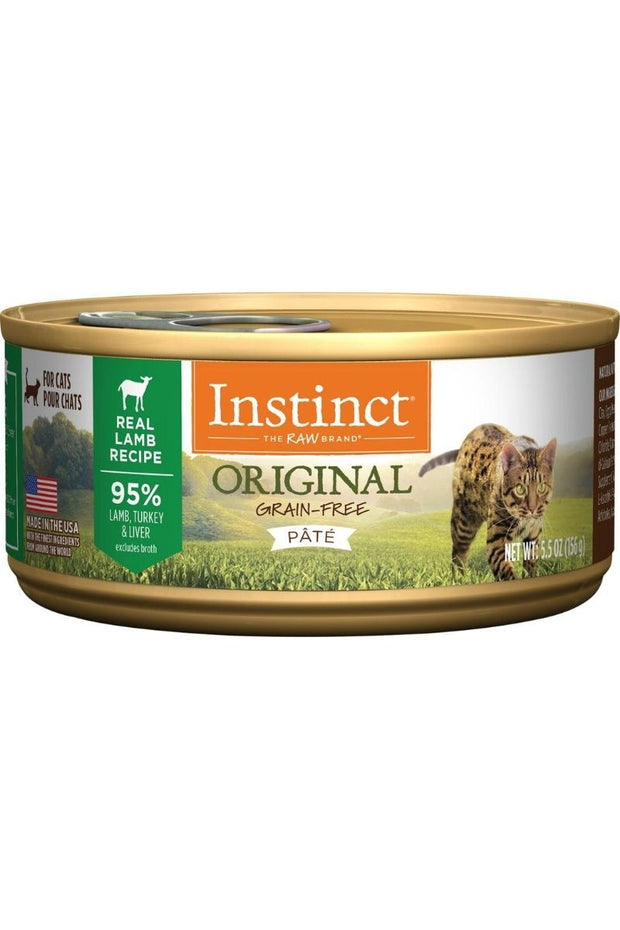 Instinct Original Grain-Free Pate Real Lamb Recipe Canned Cat Food