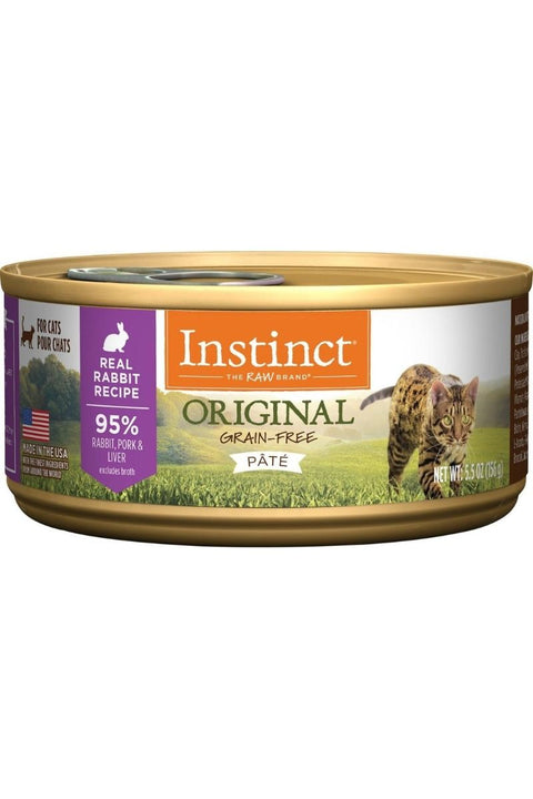 Instinct Original Grain-Free Pate Real Rabbit Recipe Wet Canned Cat Food