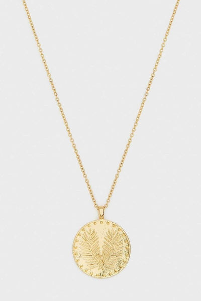 Gorjana, Palm Coin Necklace