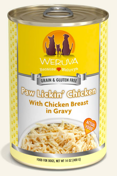 Weruva Paw Lickin' Chicken with Chicken Breast in Gravy Dog Food Cans