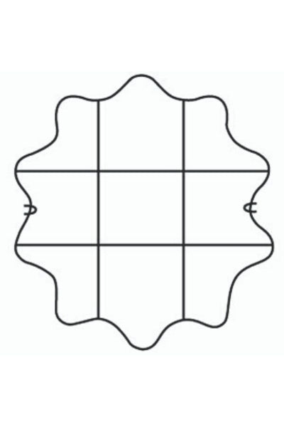 Scalloped Grid Plant Support 17""