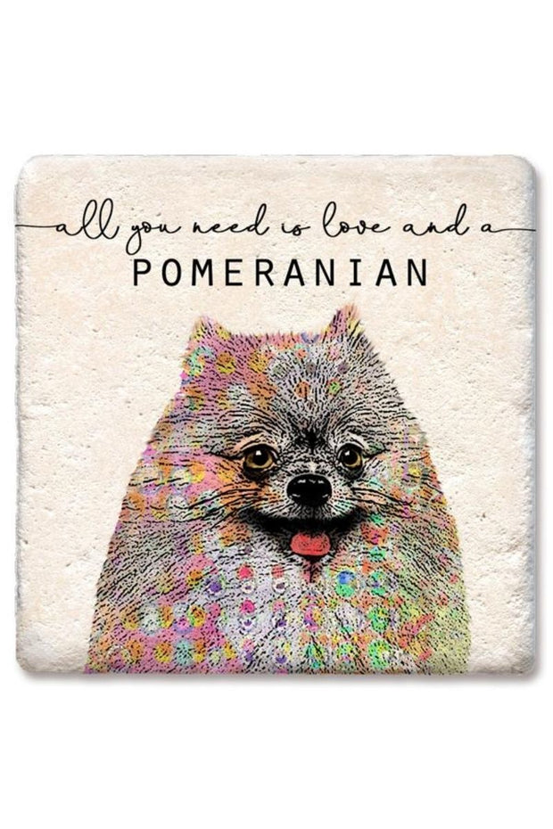 Tipsy Coasters Love and a Pomeranian Coaster