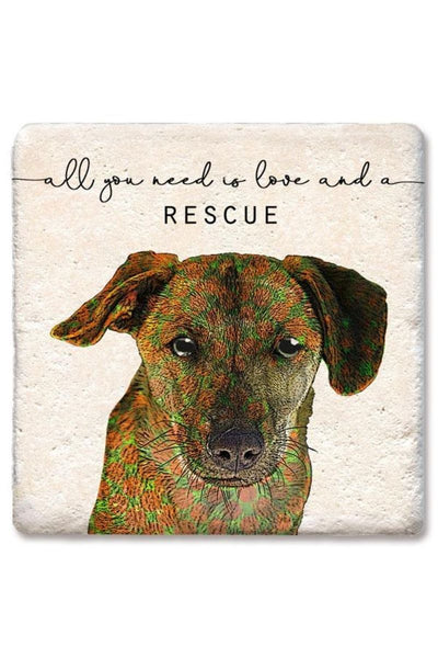 Tipsy Coasters Love and a Rescue Dog Coaster
