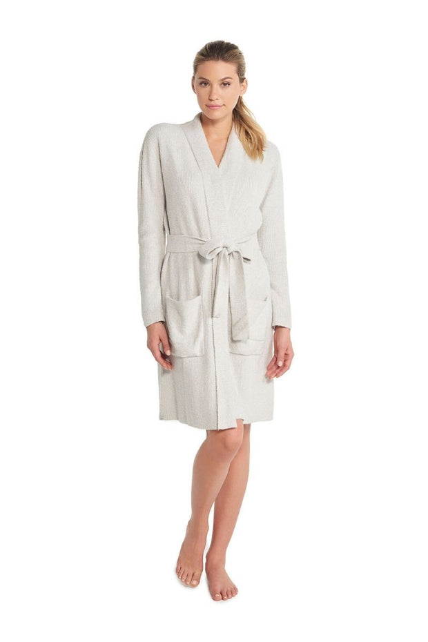 The Cozychic Lite Ribbed Robe Heathered Silver / Pearl