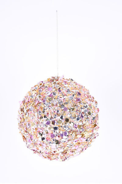 Ornament, Multi Colored Sequined Ball 4.5""