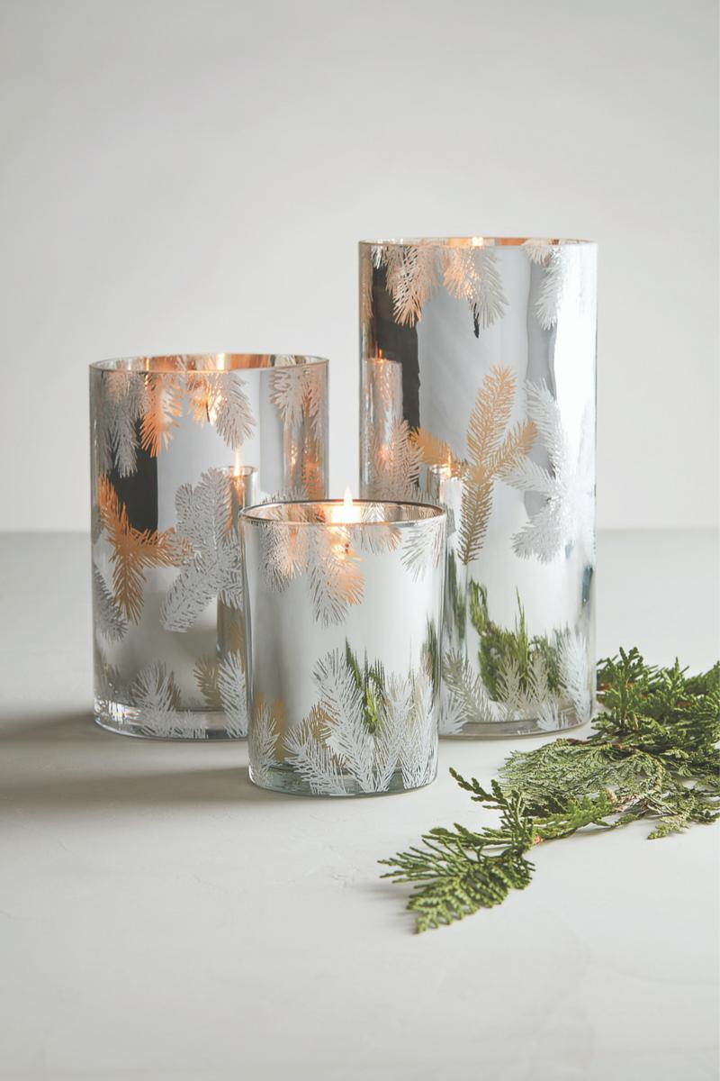 Candle, Fraser Fir Silver Tree Statement