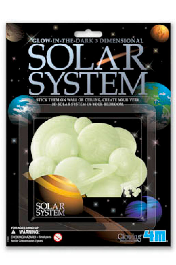 KIDS: Glow in the Dark 3D Solar System Wall Decor Kit