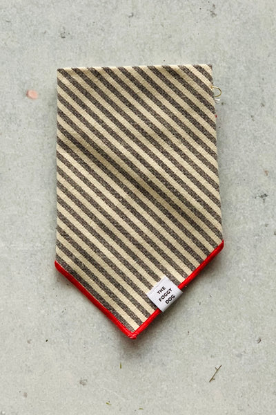 Dog Bandana - Grey Stripes