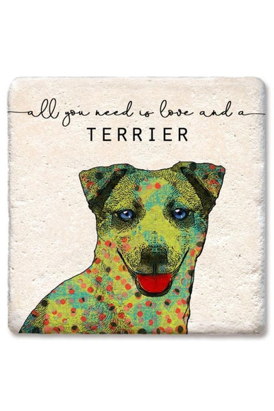 Tipsy Coasters Love and a Terrier Coaster