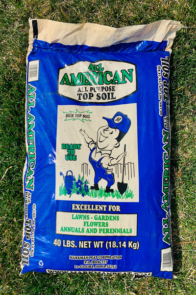 All American All Purpose Topsoil (40lb bag)