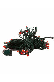 UL 50-Light 5MM Red LED Green Wire Light Set