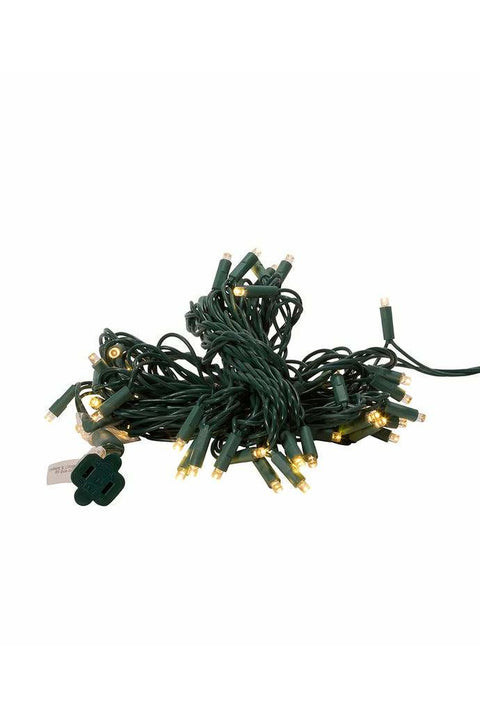UL 50-Light 5MM Warm White LED Green Wire Light Set