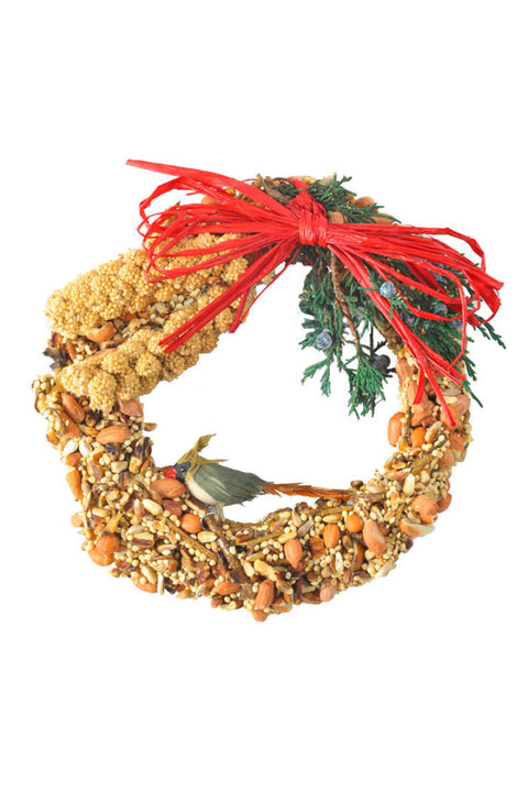 Rustic Bird Seed Wreath 6""