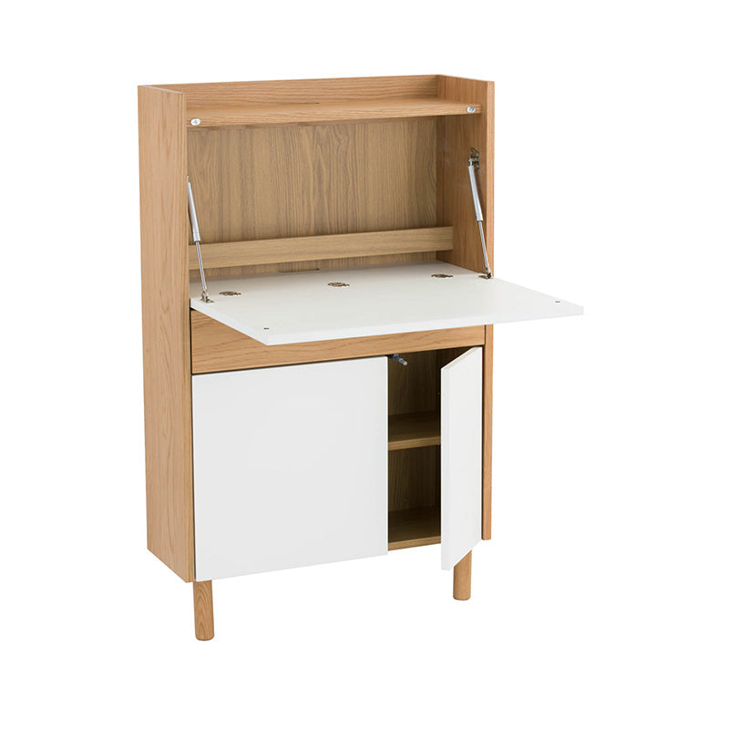 BARTON Study Desk 71cm - White & Natural