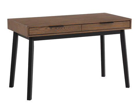 MALTON Study Desk 120cm - Black & Walnut