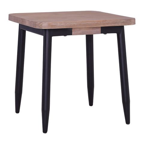 BINDER Side Table 50cm Acacia Solid Wood - Black & Taupe