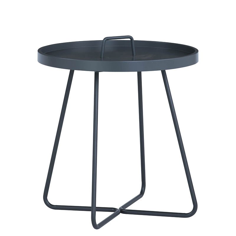 JAXI Round Coffee Table 40cm - Graphite Grey