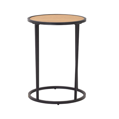 BRADFORD Side Table 40cm  - Natural & Black