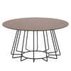 CYRUS Round Coffee Table - Bronze Mirror & Black