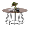 CYRUS Round Coffee Table 80cm - Bronze Mirror & Black
