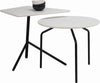 Stan Side Table - Black + White