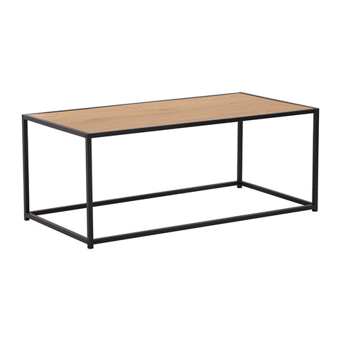 BRADFORD Coffee Table 100cm - Black & Natural