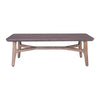 CORBIN Coffee Table 120cm - Acacia Solid Wood - Havana Sandblast Colour