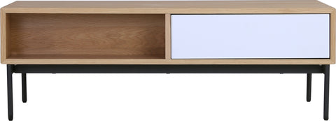 MILLER 120cm Oak Veneer Rectangular Coffee Table