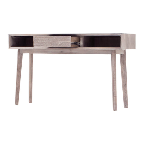 KERRON Console Table 140cm - Acacia Solid Wood - Navarrah Ash Colour