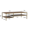 WILLINGHAM Coffee Table 140cm - Brass & Wood