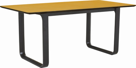 Ulmer Dining Table - 180cm - Black + Natural