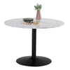 MARMOR Round Marble Table 110cm - Black & White