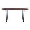 Omeo Dining Table 1.7M - Walnut/Blk