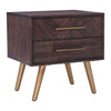 SIVAN Bedside Table 50cm Acacia Solid Wood - Brown
