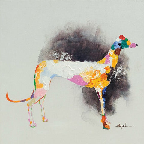 Greyhound Modern Oil Painting