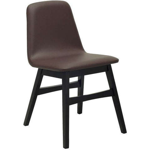 Avice Dining Chair in Brown