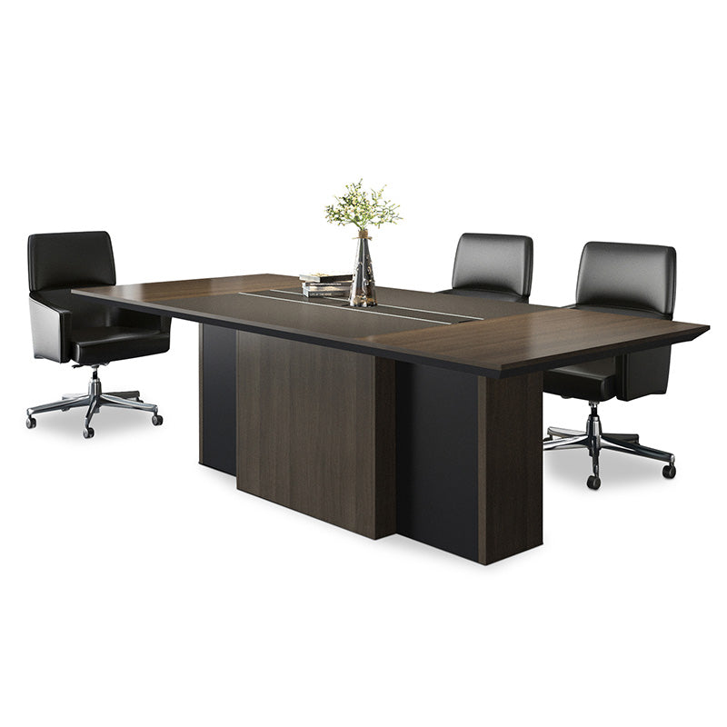 CARTER Boardroom Table - 240cm - Coffee + Charcoal