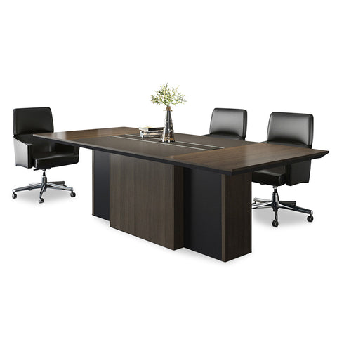 Hunter Boardroom Table - 240cm - Coffee + Charcoal