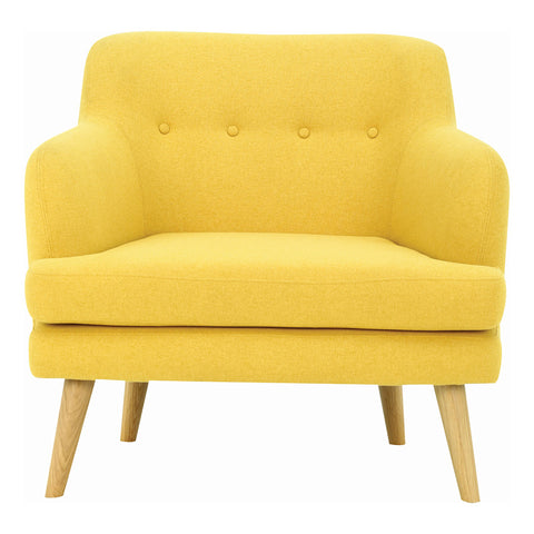 EXELERO Single Seater Sofa - Yellow
