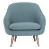 PRIUS Single Seater Sofa Marble Blue Colour