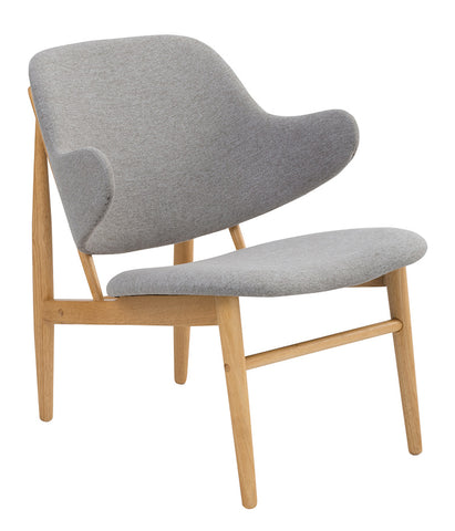 Veronic Lounge Chair - Natural & Light Grey