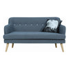 EXELERO 2 Seater Sofa in Battleship Grey