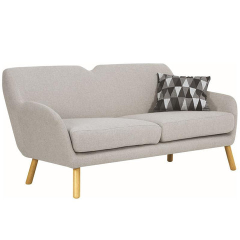 Wagon 3 Seater Sofa - Pale Silver - Royaal Range