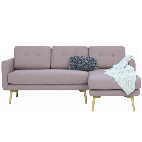Stream 3 Seater Sofa with Right Chaise - Oak Brown - Royaal Range