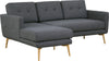 Stream 3 Seater Sofa with Left Chaise - Seal Grey - Royaal Range