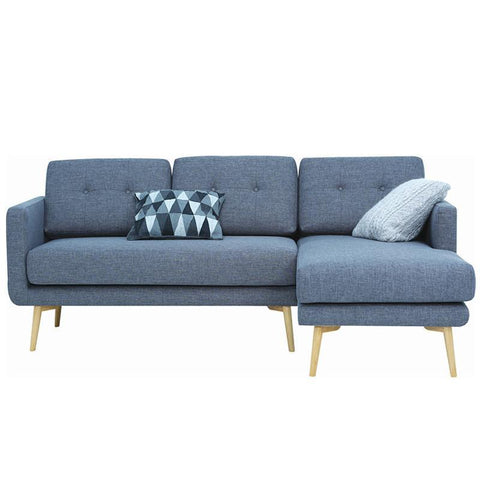 Stream 3 Seater Sofa with Right Chaise - Seal Grey - Royaal Range