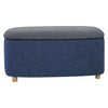 DAYTONA Ottoman with Storage - Large - Midnight Blue