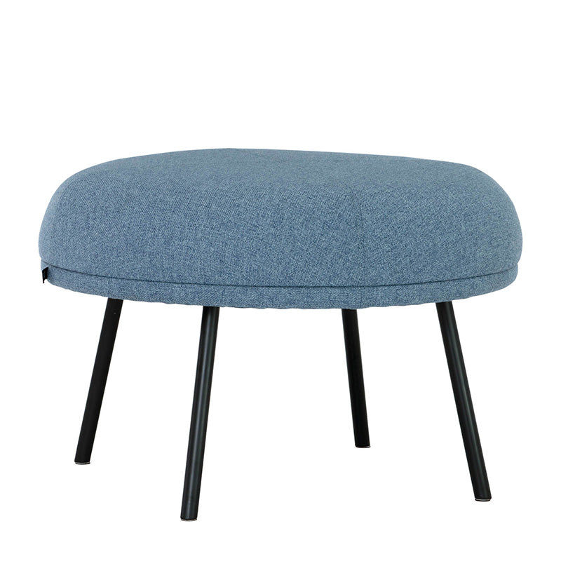 JUSTY Footstool/Ottoman 63.5cm - Marble Blue